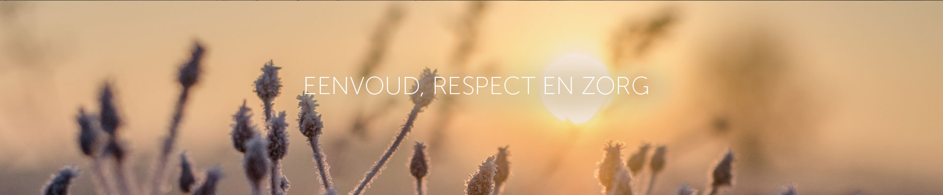 Eenvoud, respect en zorg